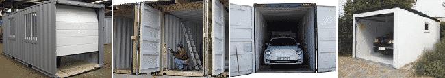 Construire des garages avec un container