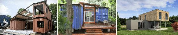 Construire des maisons avec des containers
